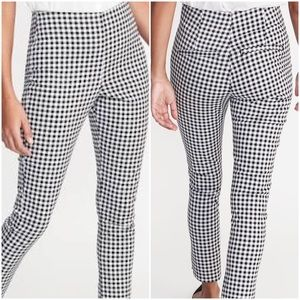 NWT Gingham High Rise Pants Size 12